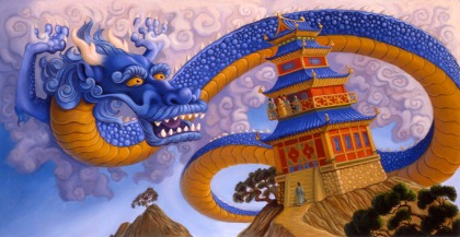 Dragons book illustrated by Jeff Crosby for Grosset & Dunlap