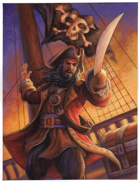 Pirate birthday card for Peaceable Kingdom by Jeff Crosby