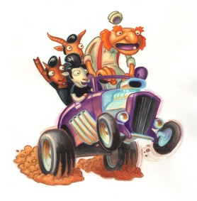Rockabilly Goats Gruff by Jeff Crosby