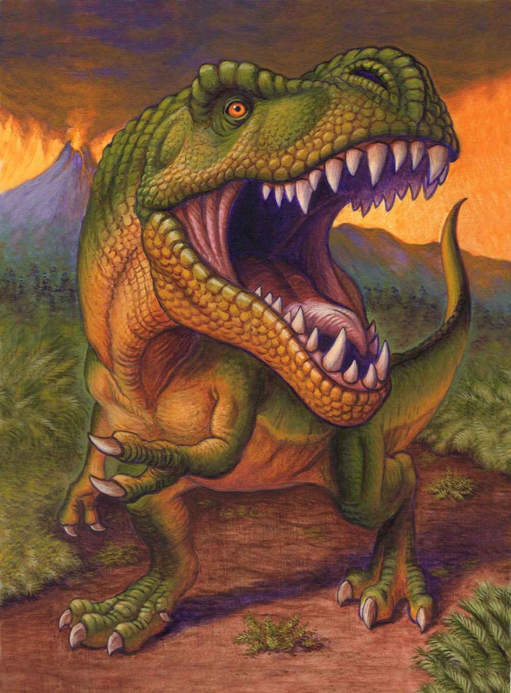 T Rex Birthday Card