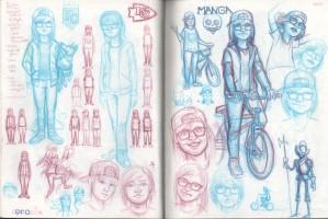 El Mago de OZ by Jeff Crosby, micron pen on sketchbook