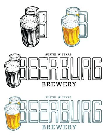 Beerburg Brewery logos