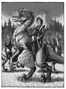 DinoKnights, Interior Illustration, Scallywag Press