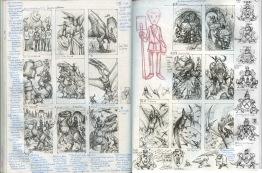 Dinoknights, Sketchbook, Scallywag Press